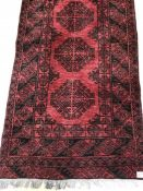 Large Red Ground Runner Approx 208cm x 24cm