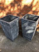 Pair of Large Garden Planters, height approx 87cm