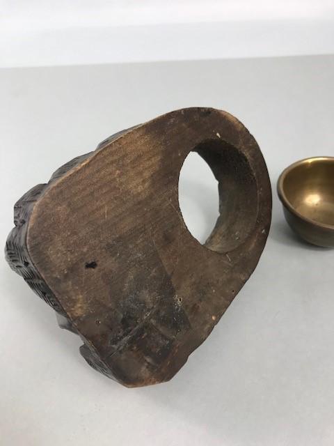 Lot 18 - Antique Black Forest ashtray and matchbox holder