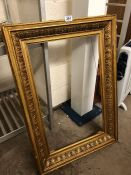 19th century gilded picture frame, approx 67cm x 41cm inside frame