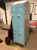 Large Four Bay Storage Metal storage locker with four keys