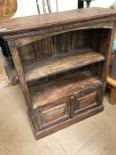 Solid wooden Bookshelf/ display unit with cupboard under 81 x 35 x 100cm tall