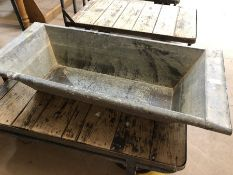 Large Galvanised Trough ideal for Garden planter approx 110 x 50 x 22cm