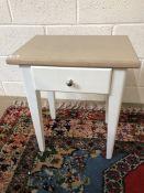 Hall table on painted legs