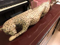 Carved Wooden Cheetah
