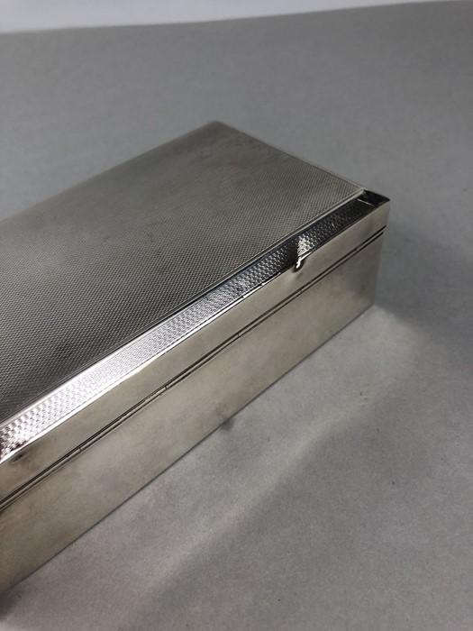 Lot 31 - Silver hallmarked Cigarette box (total weight 434g) Birmingham