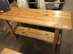 Modern pine console table