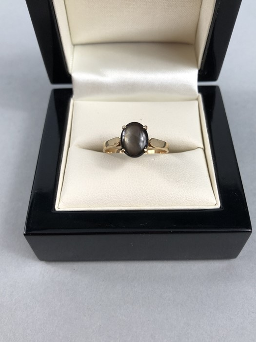 Lot 45 - 14ct Gold ring set with single Gem stone