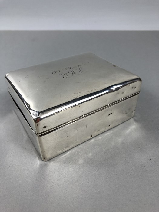 Lot 29 - Silver Cigarette box hallmarked for London Mappin & Webb