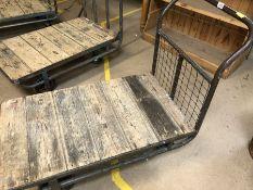 Vintage metal framed and wooden based trolley