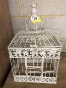 Metal ornamental bird cage