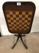 Tilt top Chess/ games table on tripod feet