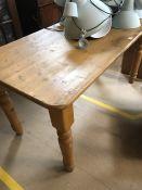 Pine Table on Turned Legs