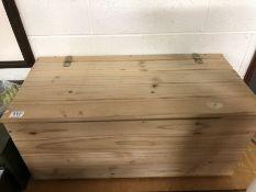 Pine wooden storage box 80cm 38cm x 36cm tall
