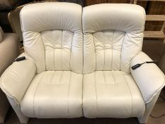 HIMOLLA: German made Himolla two seater sofa and matching armchair all electric