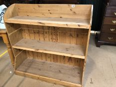 Three shelved Pine Bookcase or display unit