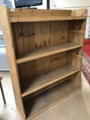 Large Pine Shelving unit or bookcase 33 x 101 x 132cm tall