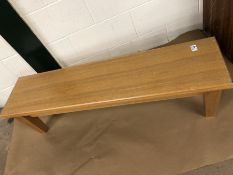 Pair of Pine Benches 120 x 30 x 33cm tall