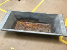 Galvanised Trough feeder soon to be garden planter, dimensions approx 118cm x 49cm x 23cm