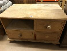 Antique pine unit with three drawers