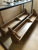Pair of pine shelves / plate racks