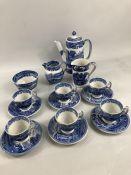 Copeland Spode's ITALIAN England - Coffee set comprising Six cups and saucers, Milk Jug, Sugar