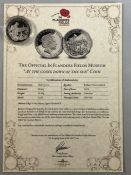 """Limited edition (100,000) Commemorative Half Crown Collectors coin """"THE OFFICIAL IN FLANDERS"""