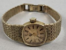 9ct Gold 375 ladies watch by ROTARY stamped to case back and to clasp total weight approx 23.5g