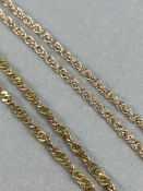 Two 9ct Gold Gold chains both approx 56cm long total weight approx 7.5g