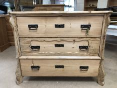 Antique pine chest of three drawers