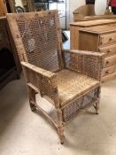 Vintage wicker armchair (A/F)