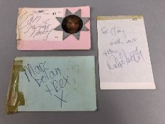 Autograph: 1. T. Rex, Marc Bolan, Micky Finn, John ? signed at the Winter Gardens Weston Super