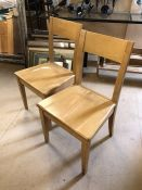Two beech chairs