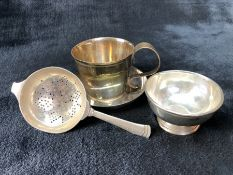 Collection of various hallmarked silver items all by Edward Barnard & Sons Ltd to include tea