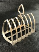 Silver Hallmarked Toast rack Sheffield by Harrison Brothers & Howson (George Howson)