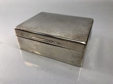 Silver hallmarked Cigarette box Birmingham by C & Co. approx 11.5 x 9 x 4cm tall and approx 358g