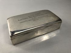 Military interest: Cigarette case marked STERLING by Poole with label for W. Bell & Co of Washington