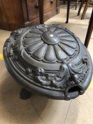 Cast iron coal scuttle approx 39cm x 52cm x 30cm
