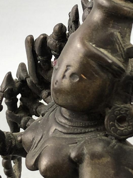 Lot 118 - Brass metal figure on plinth of Brahma the Hindu creator god approx 18cm tall