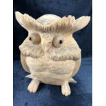 Carved wooden owl approx 30cm in height