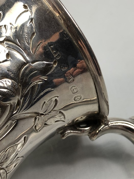 Lot 28 - Silver Birmingham hallmarked jug with all over repousse decoration approx 94g and 8cm tall