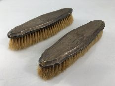 Pair of Birmingham hallmarked Silver brushes