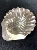 Hallmarked silver shell butter dish Birmingham 1902 by William Aitken