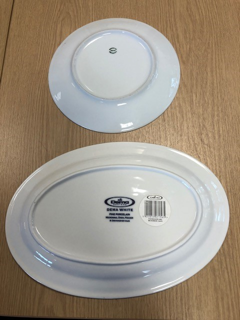 Lot 232 - Large collection of white dinnerware and tableware over two shelves