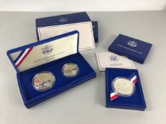 Coins: Two sets of commemorative United states Liberty coins