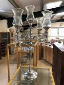 Large contemporary four arm candelabra, height approx 99cm