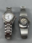 Two Tissot watches: Tissot PR100 Automatic and a vintage Seastar automatic