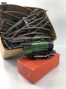Hornby No 30 Locomotive (REVERSING) GAUGE O, made by Meccano and a quantity of track