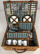 Modern picnic hamper complete with contents