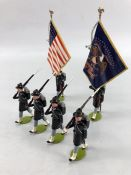 Boxed Imperial Collectors Figures total six American series No. 24 Iron Brigade colour party